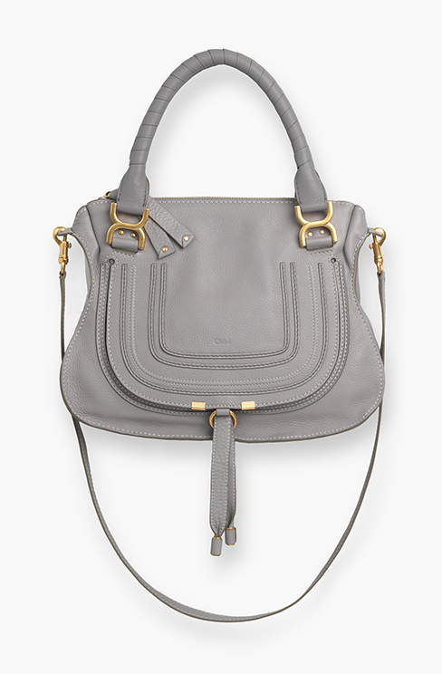 MARCIE BAG IN GRAINED CALFSKIN cashmere grey