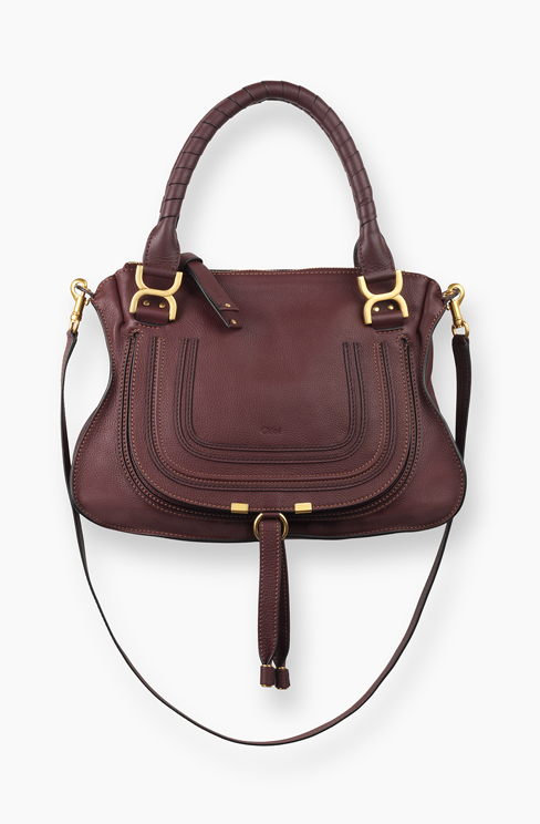 MARCIE BAG IN GRAINED CALFSKIN dark velvet