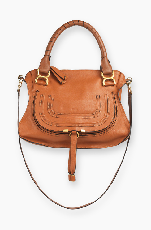 MARCIE BAG IN GRAINED CALFSKIN tan