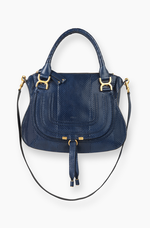 MARCIE BAG IN WATERSNAKE (AYERS) water blue