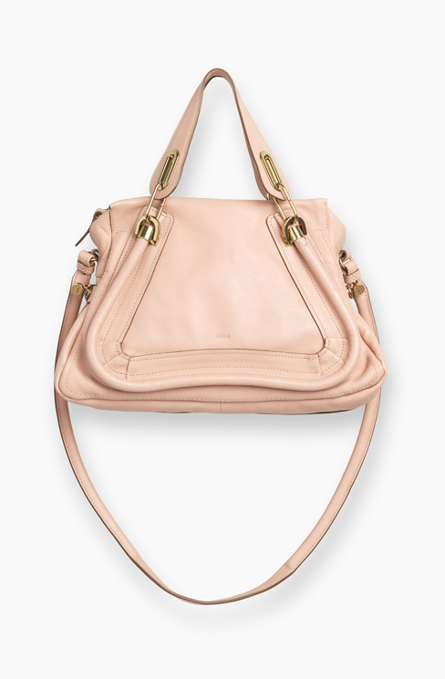 PARATY BAG IN GRAINED CALFSKIN anemone pink