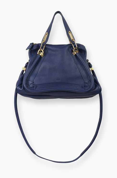 PARATY BAG IN GRAINED CALFSKIN storm blue