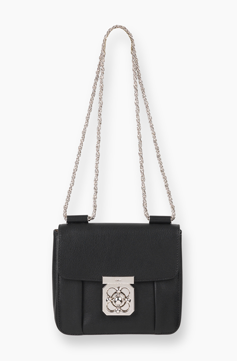 SMALL ELSIE BAG IN GRAINED GOATSKIN LEATHER black