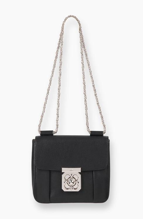 SMALL ELSIE BAG IN GRAINED GOATSKIN LEATHER black