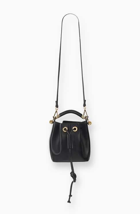 SMALL GALA BUCKET BAG IN SMOOTH CALFSKIN black