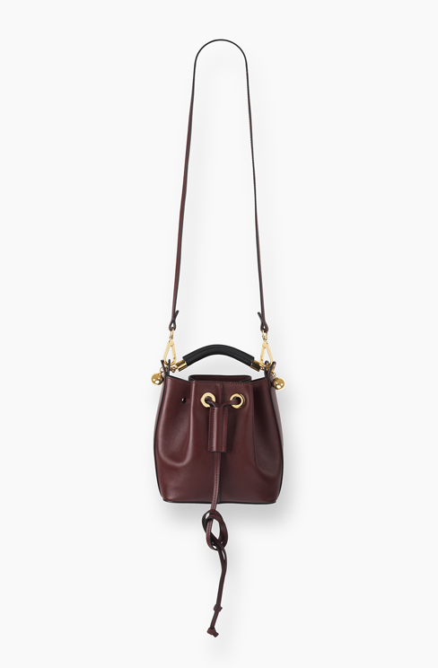 SMALL GALA BUCKET BAG IN SMOOTH CALFSKIN dark velvet
