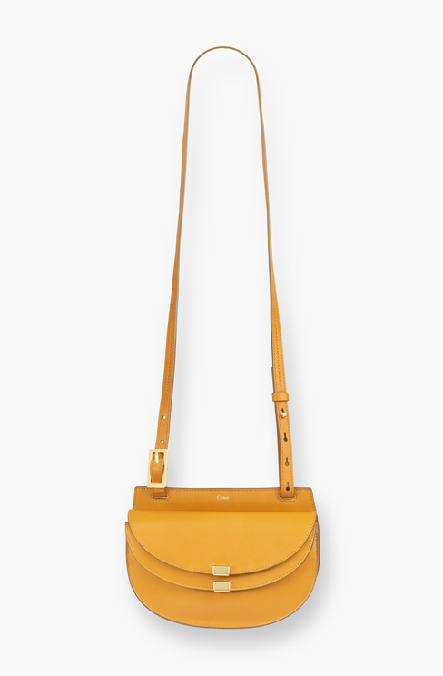 SMALL GEORGIA BAG IN NAPPA LAMBSKIN & SMALL GRAIN CALFSKIN curry yellow