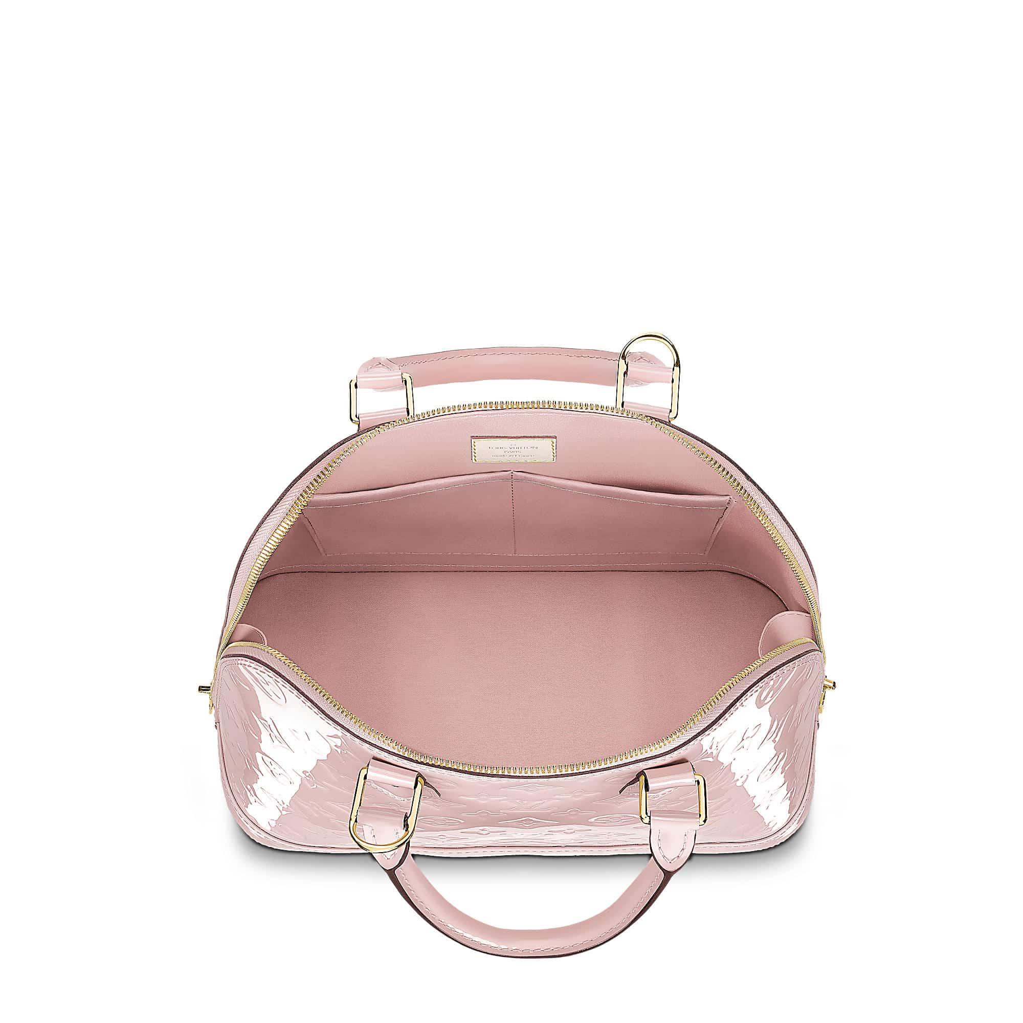 alma pm monogram vernis rosa ballerine