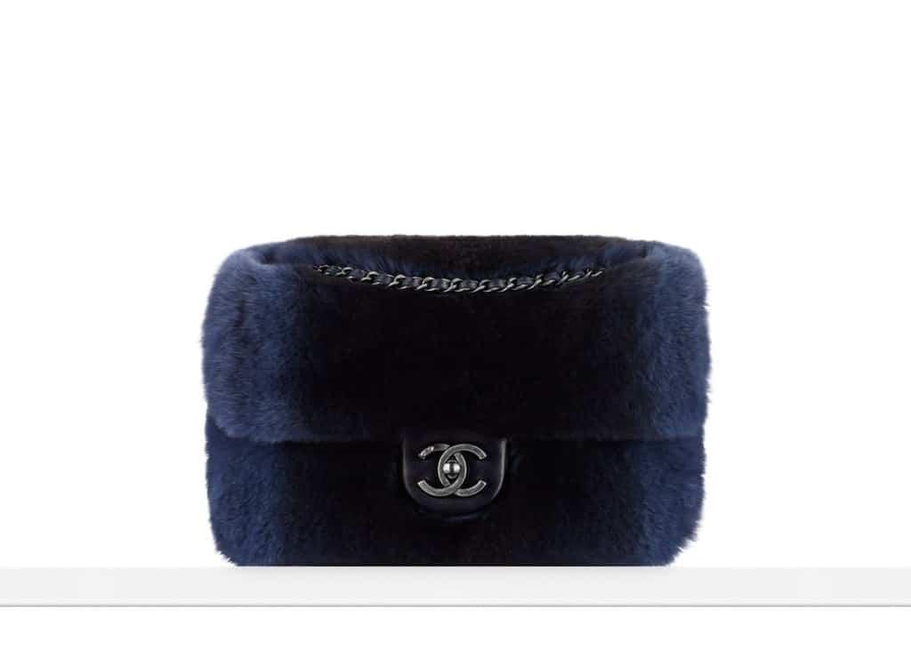 flap bag in orylag fur