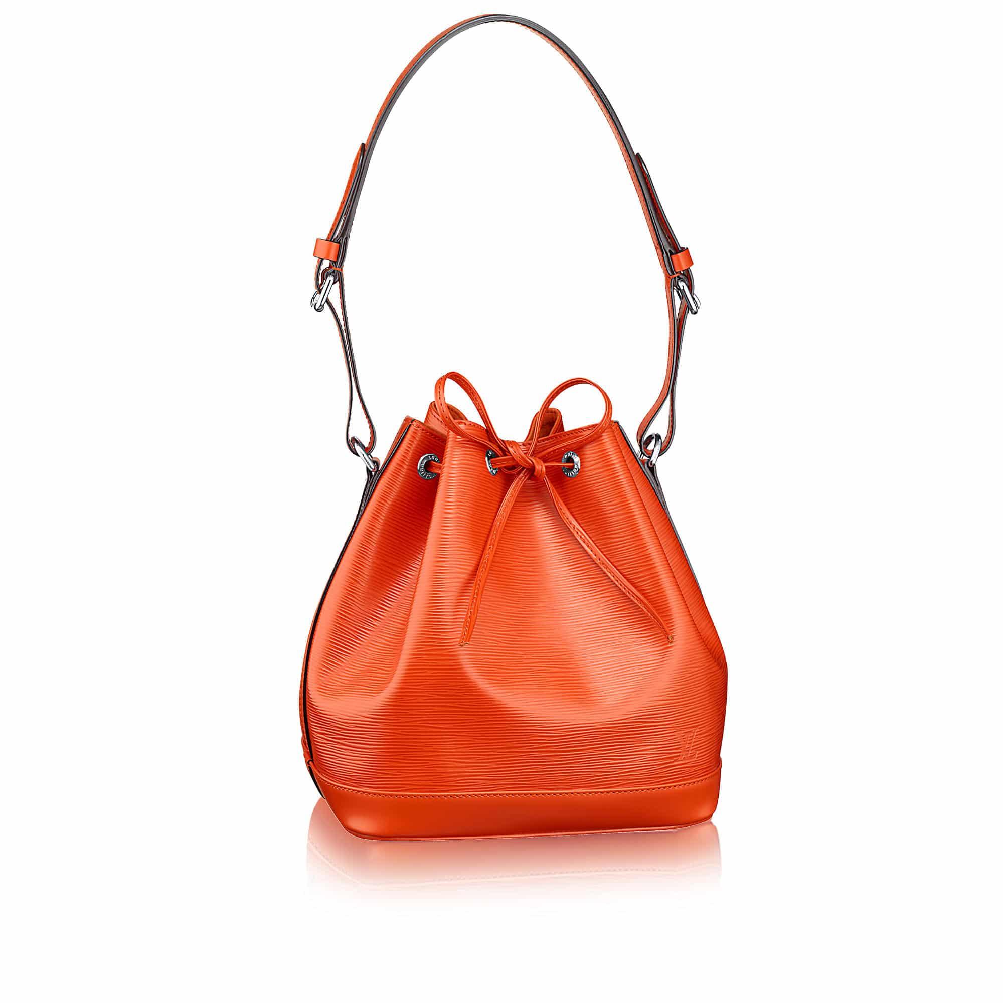 petite noé nm arancione piment epi leather