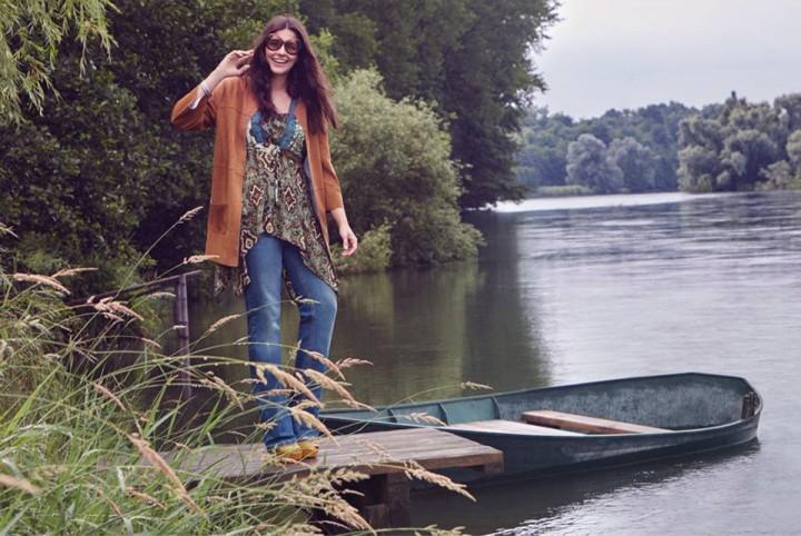 Fiorella Rubino l'autunno 2015 per le curvy è boho