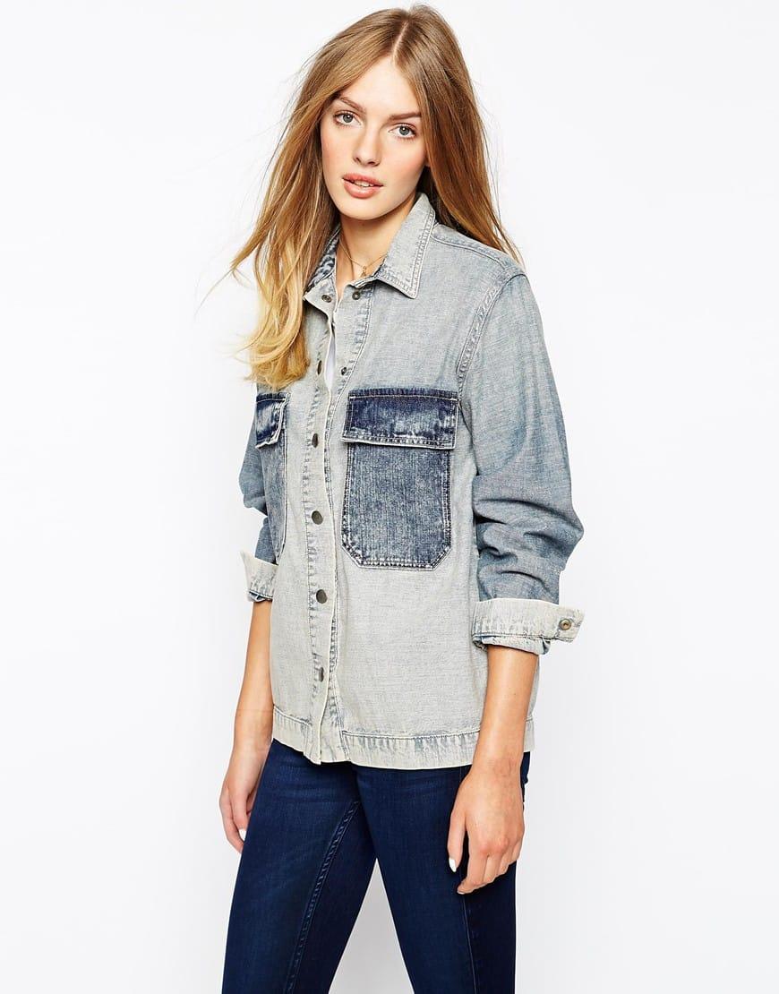 21_Giacca camicia di jeans Mih, oversized, con tasche a contrasto (338,99 € su Asos)