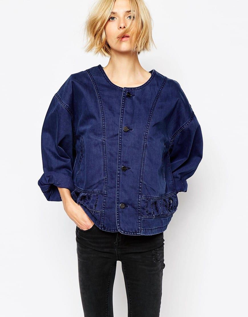 21_Giacca kimono Waven, oversied. Con strappi e maniche a sbuffo (91,99 € su Asos)