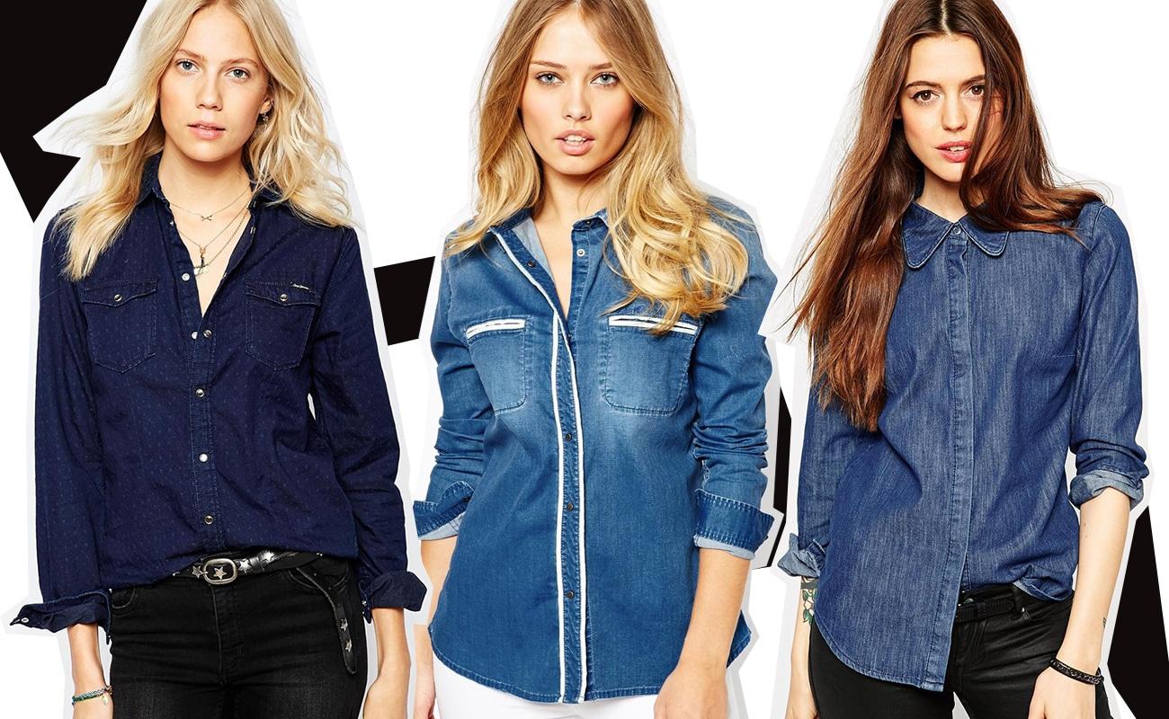 Camicia jeans da donna, consigli di stile e modelli da comprare