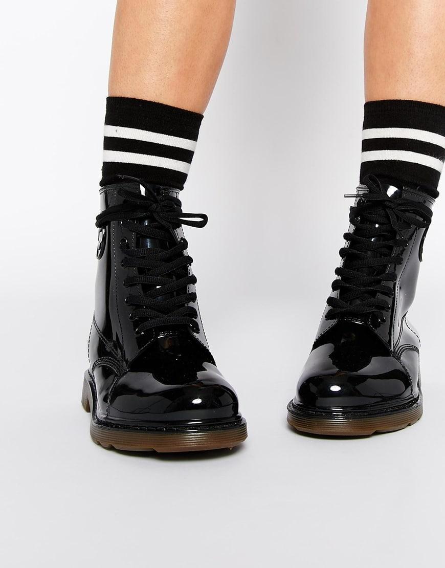 Stivali di gomma neri stringati