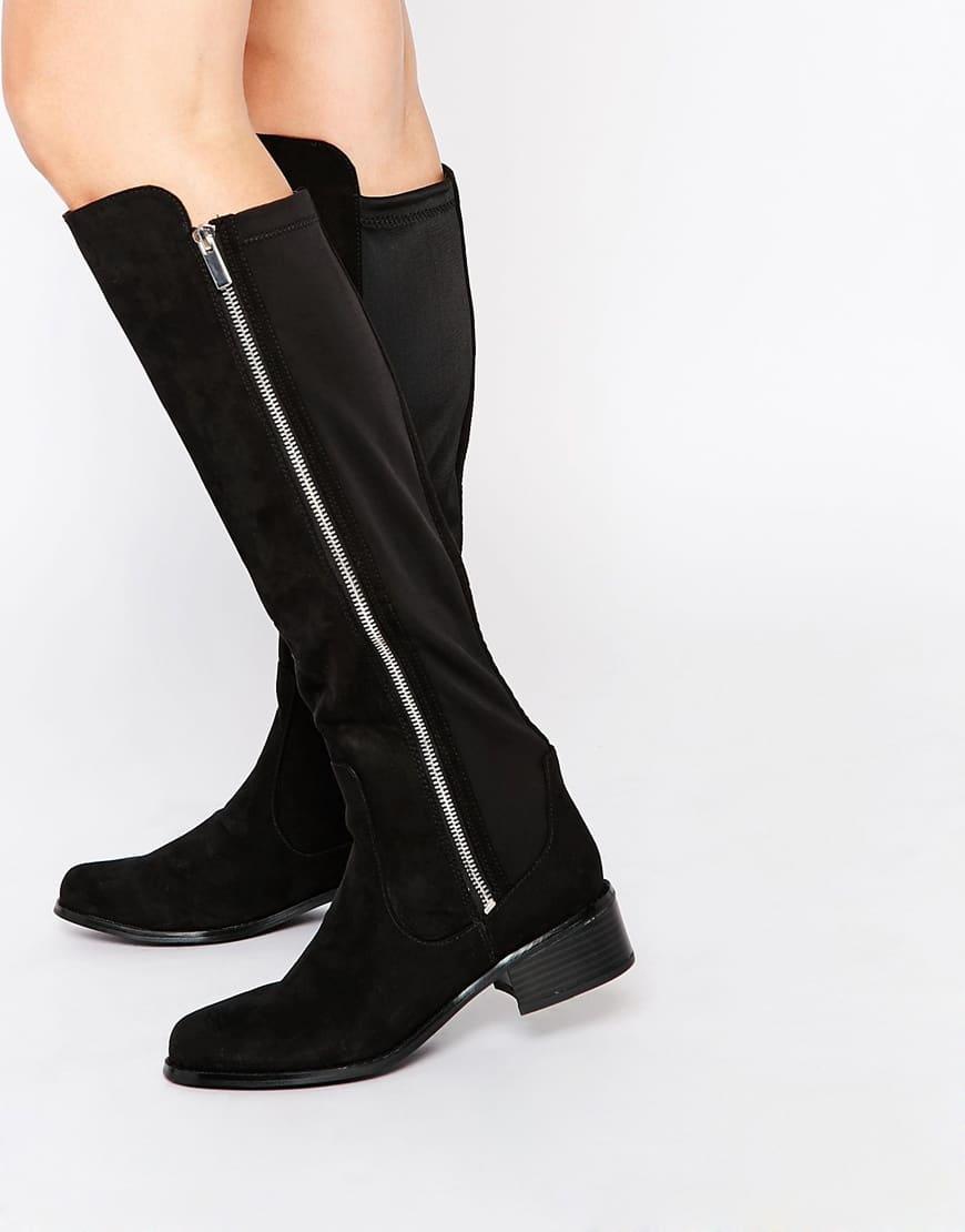18_Stivali da donna neri senza tacco