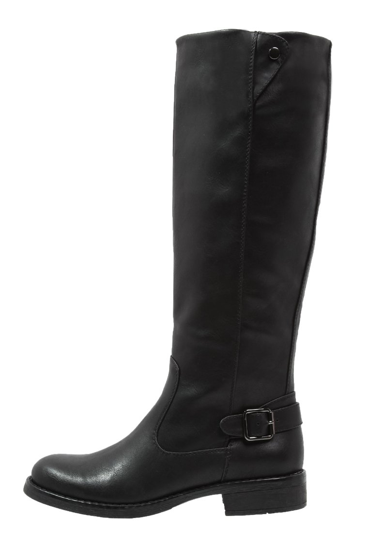 1_Stivali da donna neri senza tacco