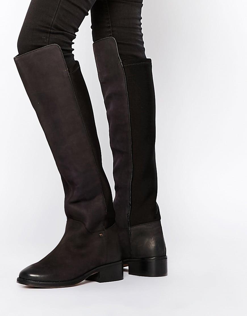 20_Stivali da donna neri senza tacco