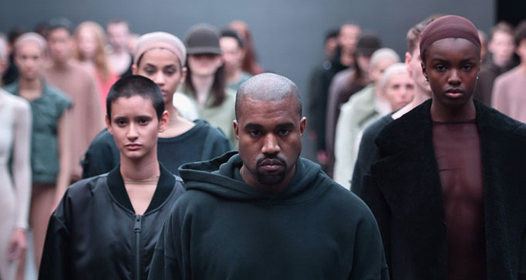 NEW YORK, NY - FEBRUARY 12: Kanye West on the runway at the adidas Originals x Kanye West YEEZY SEASON 1 fashion show during New York Fashion Week Fall 2015 at Skylight Clarkson Sq on February 12, 2015 in New York City. (Photo by Theo Wargo/Getty Images for adidas)