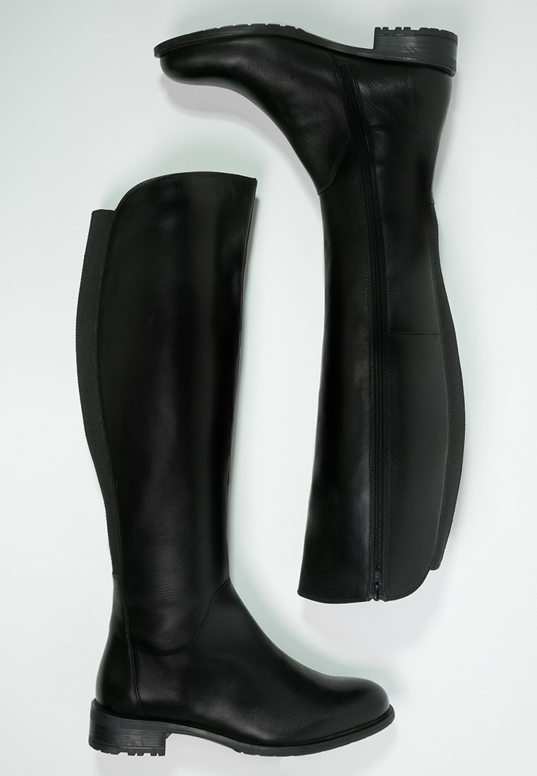 5_Stivali da donna neri senza tacco