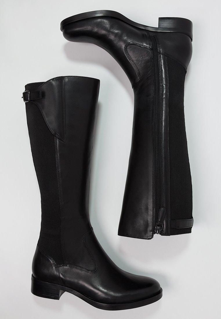 6_Stivali da donna neri senza tacco