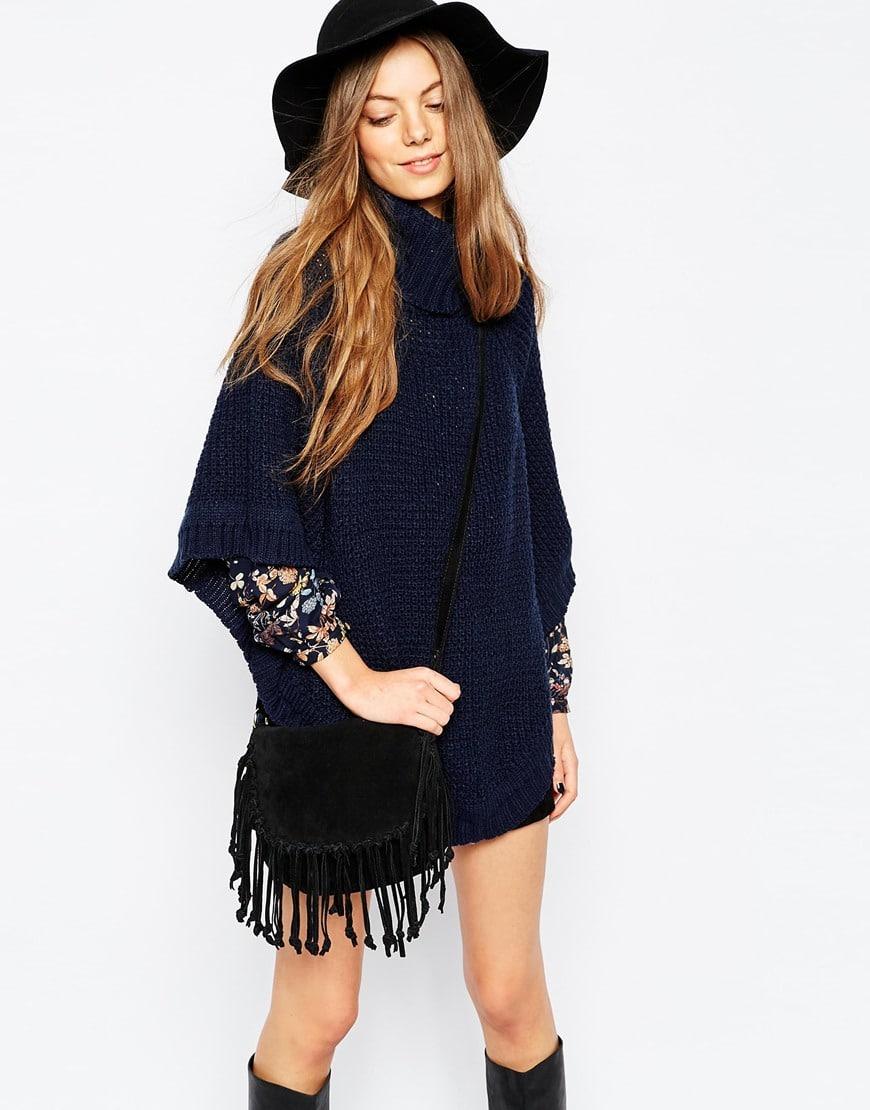Poncho oversize in maglia