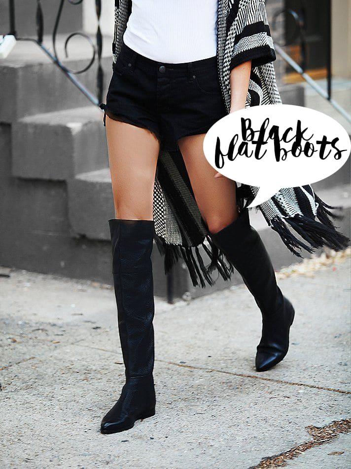 Stivali da donna, 20 modelli neri basic senza tacco