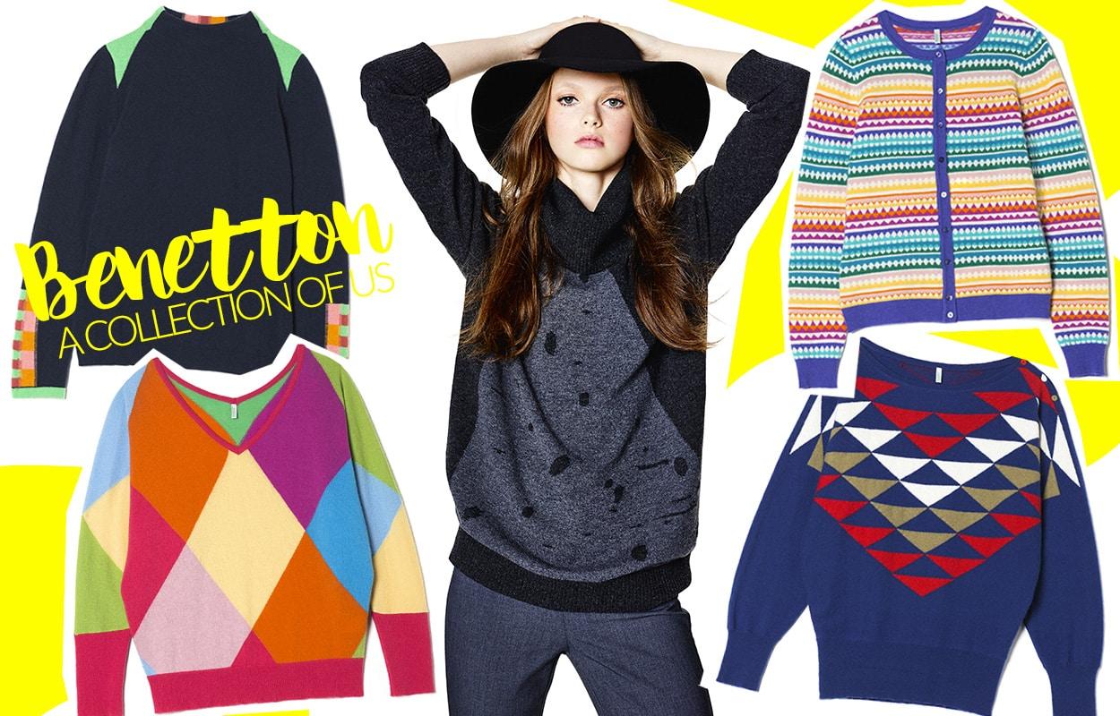 Benetton A collection of us, i mitici pullover ispirati dall'archivio storico
