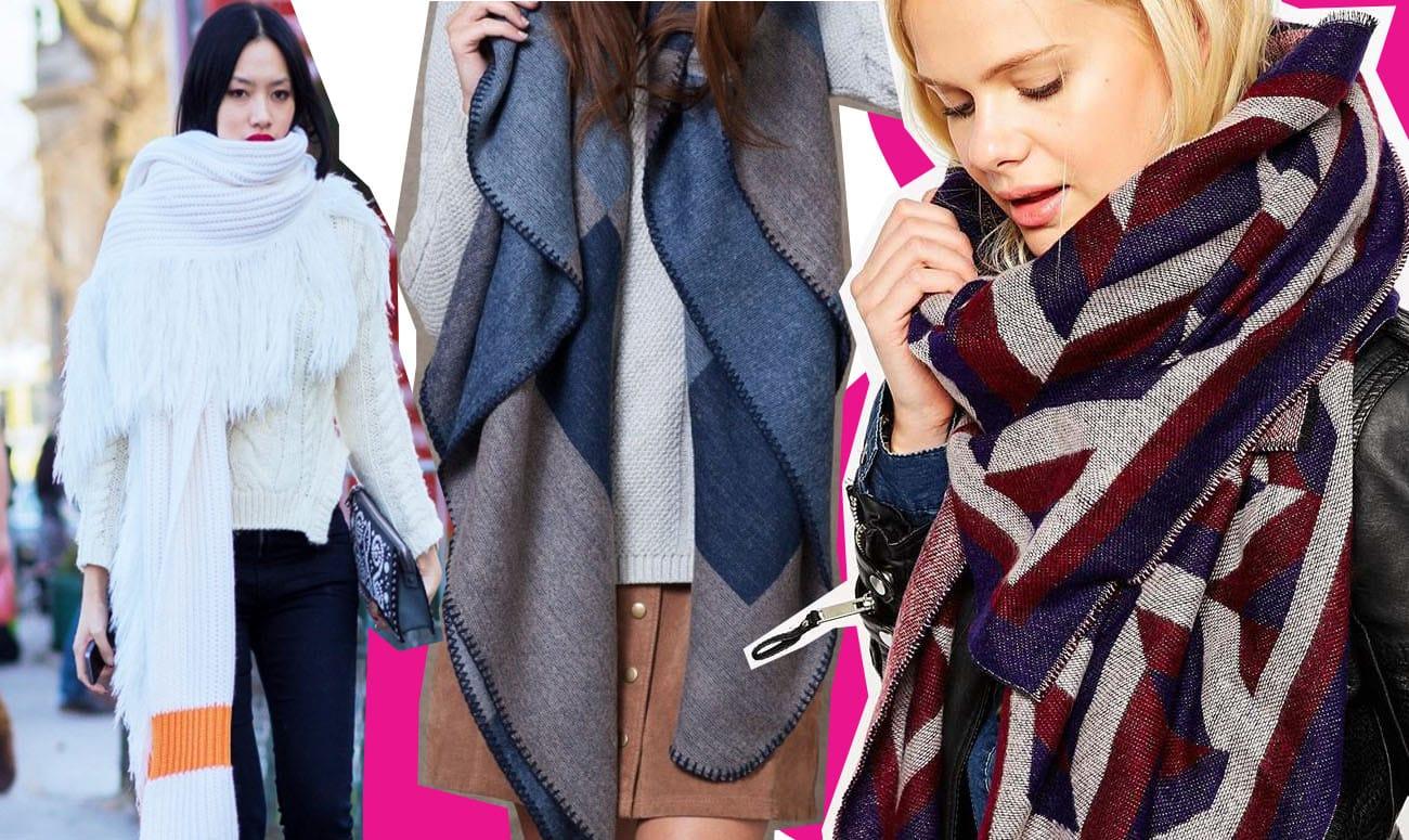 Maxi sciarpa: in lana, tricot, maglia, purché sia over