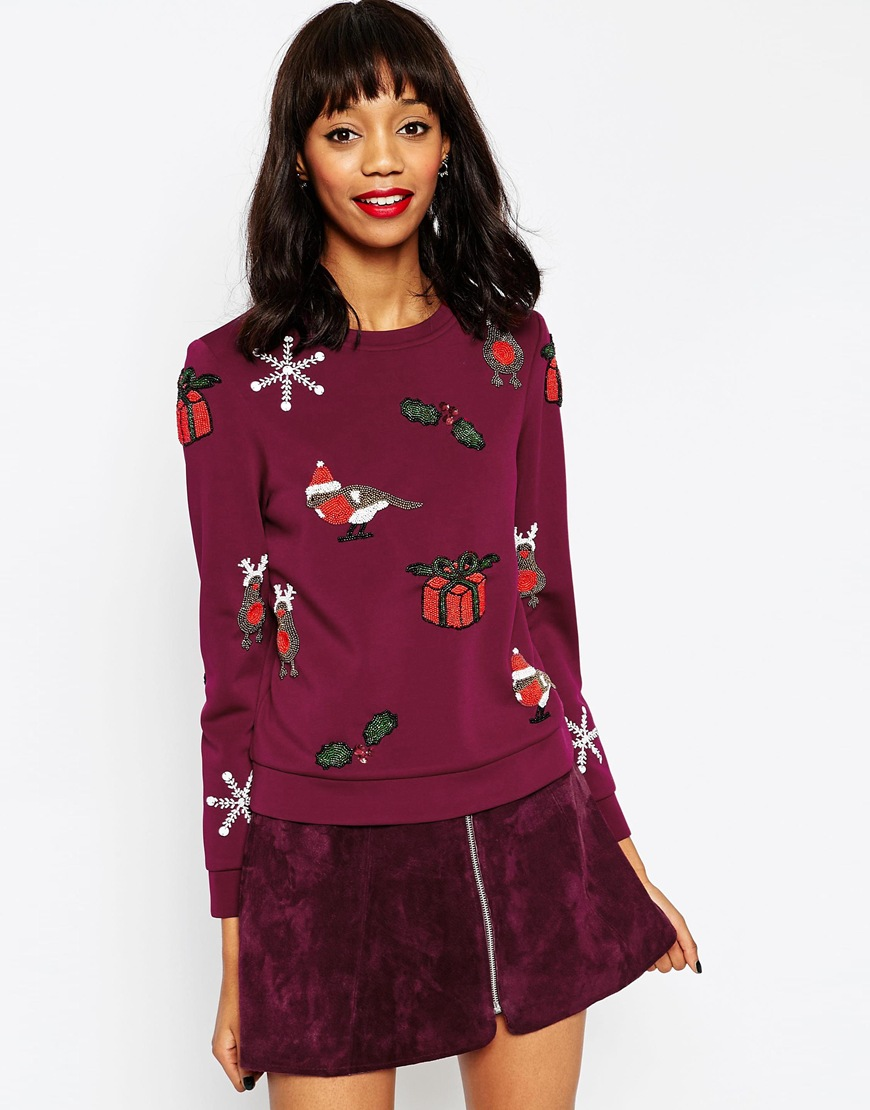 Maglione con decorazione natalizia