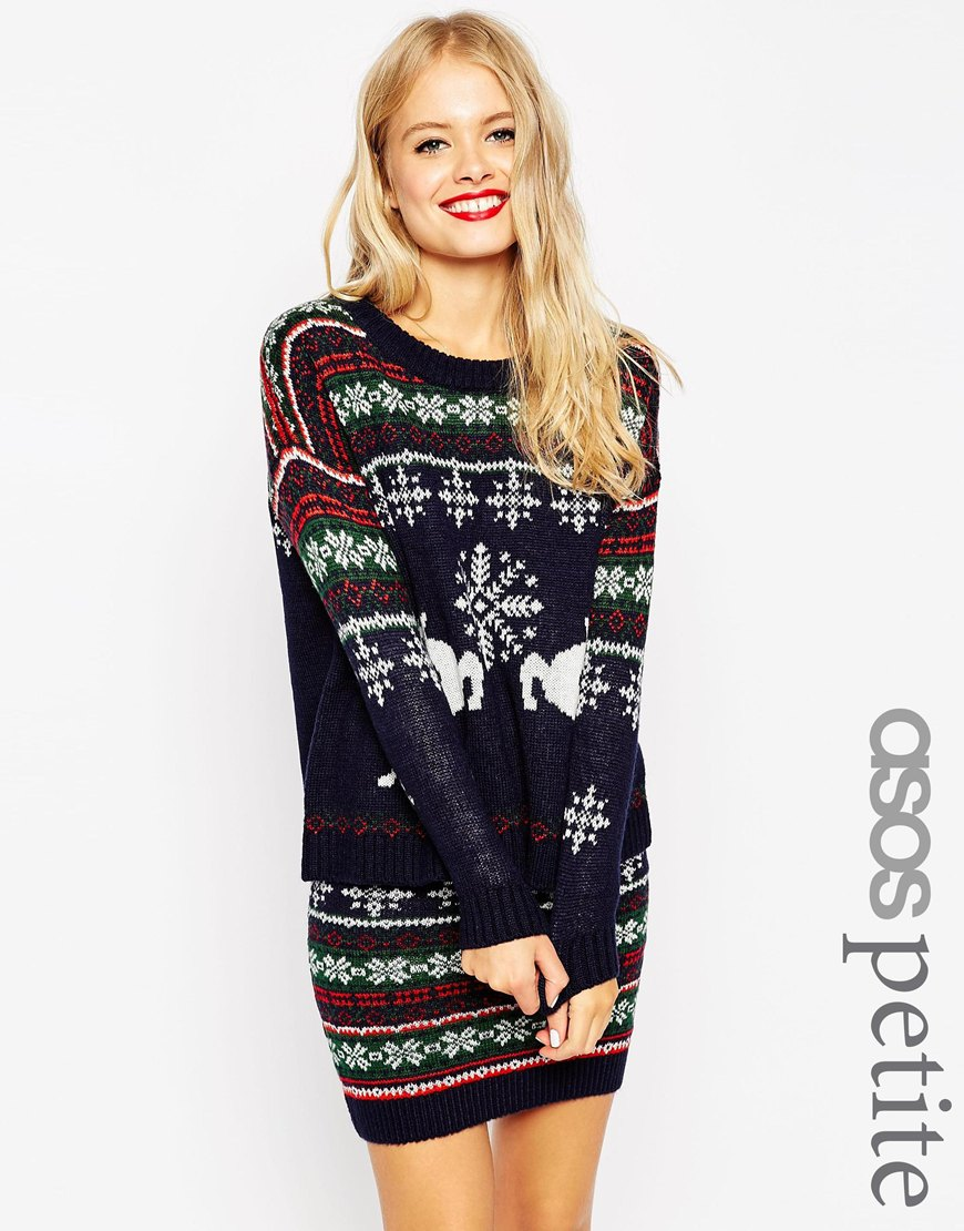 Maglione natalizio con motivo Fair Isle di renne