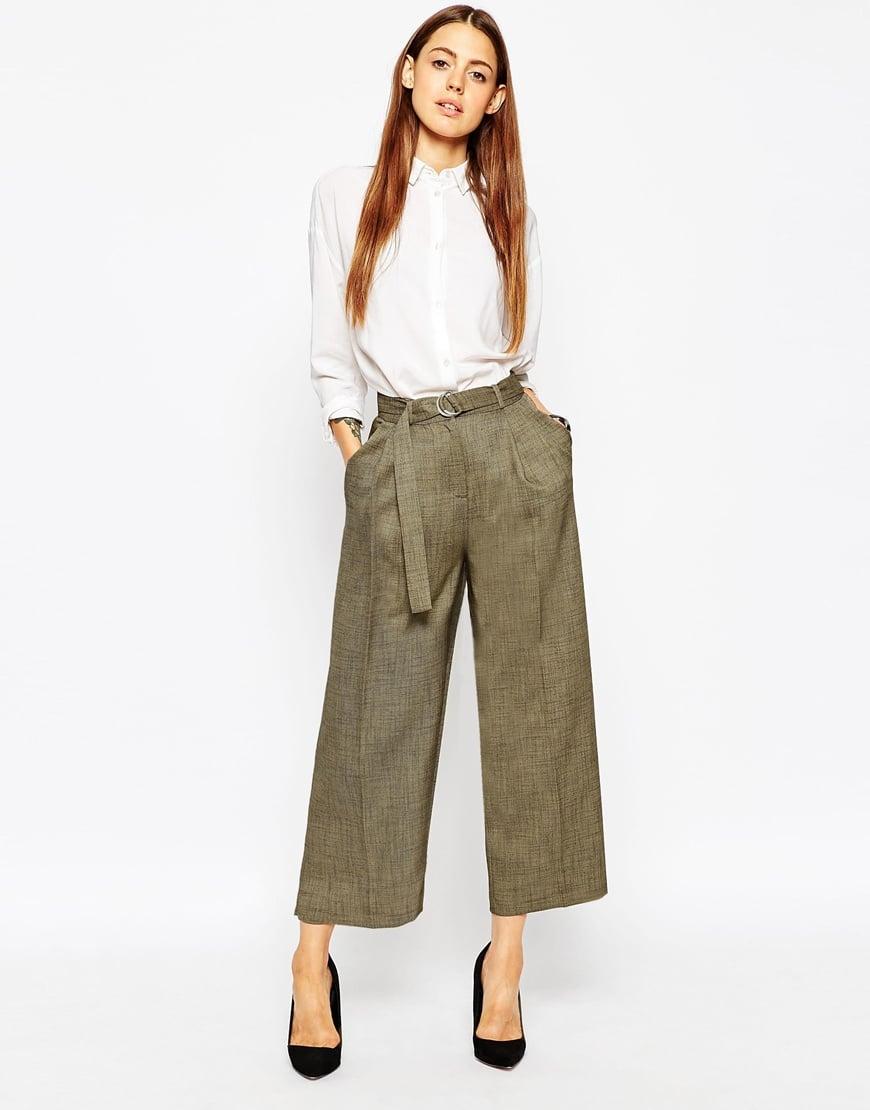 Pantaloni palazzo corti