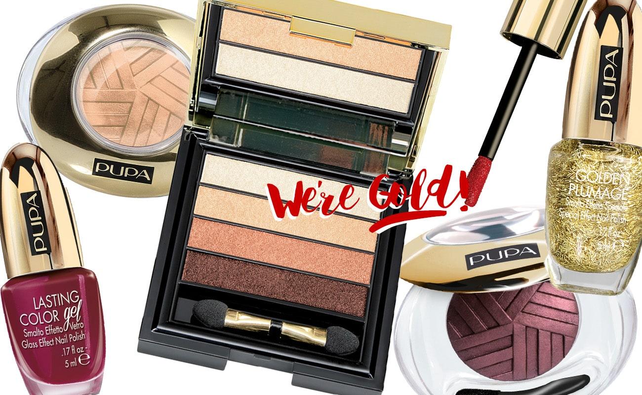 La collezione Natale 2015 di Pupa: Stay Gold!