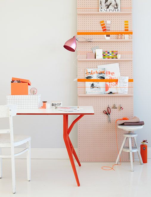 Arredare lo studio: idee se ti piace l'arancione