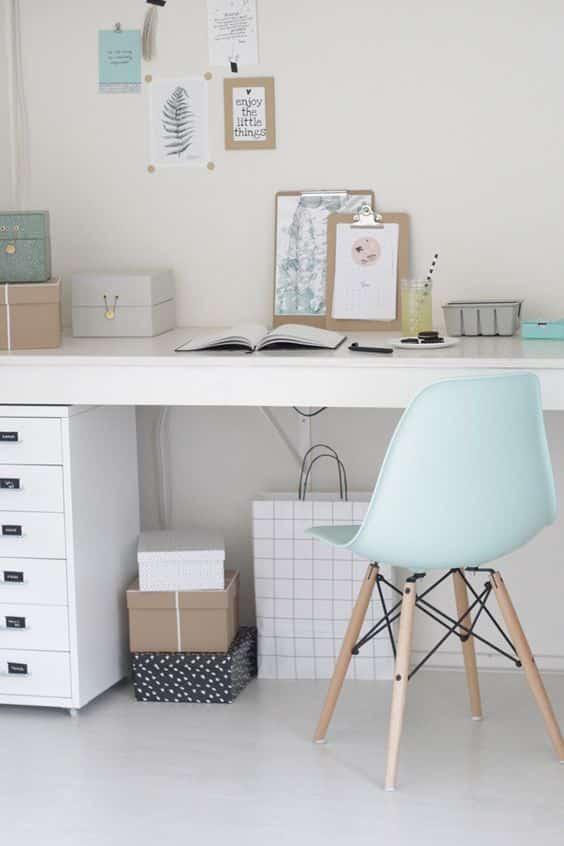 Arredare lo studio: idee se ti piace il blu
