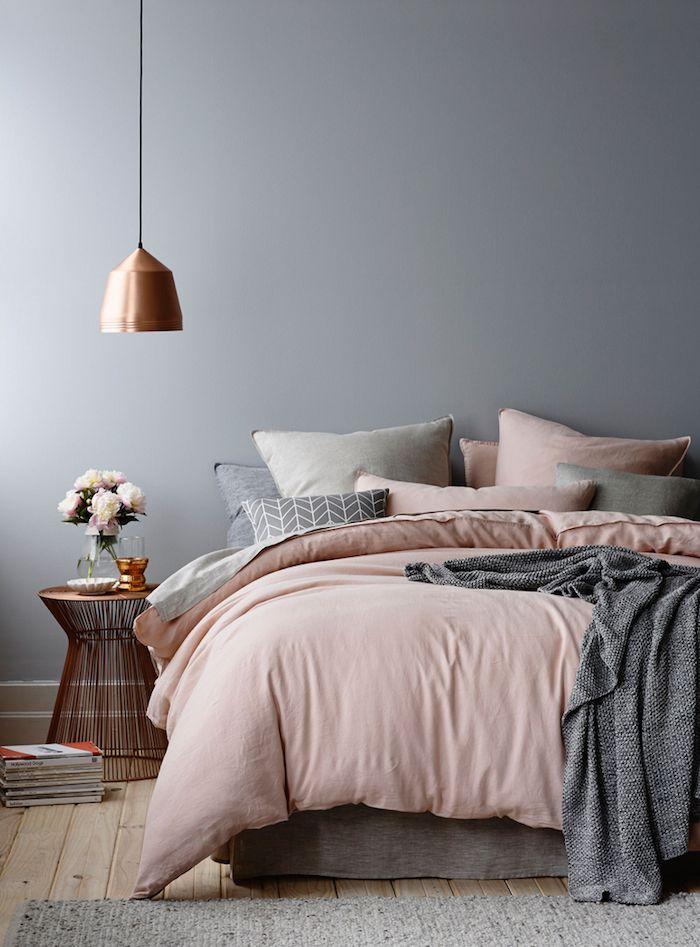 grigio e rosa arredamento casa
