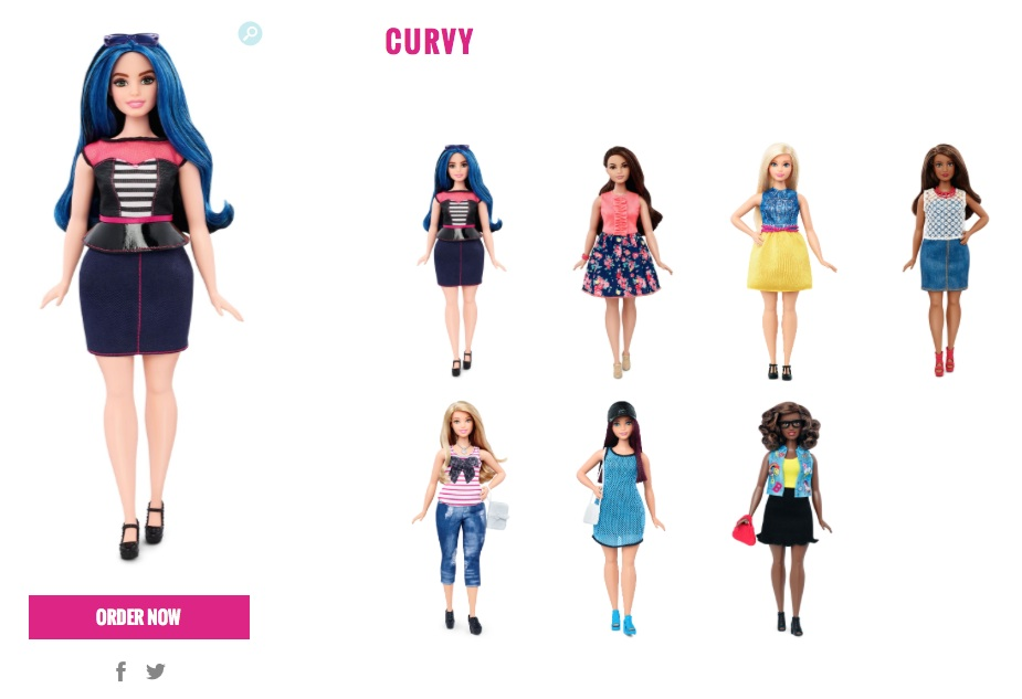 barbie curvy 2016