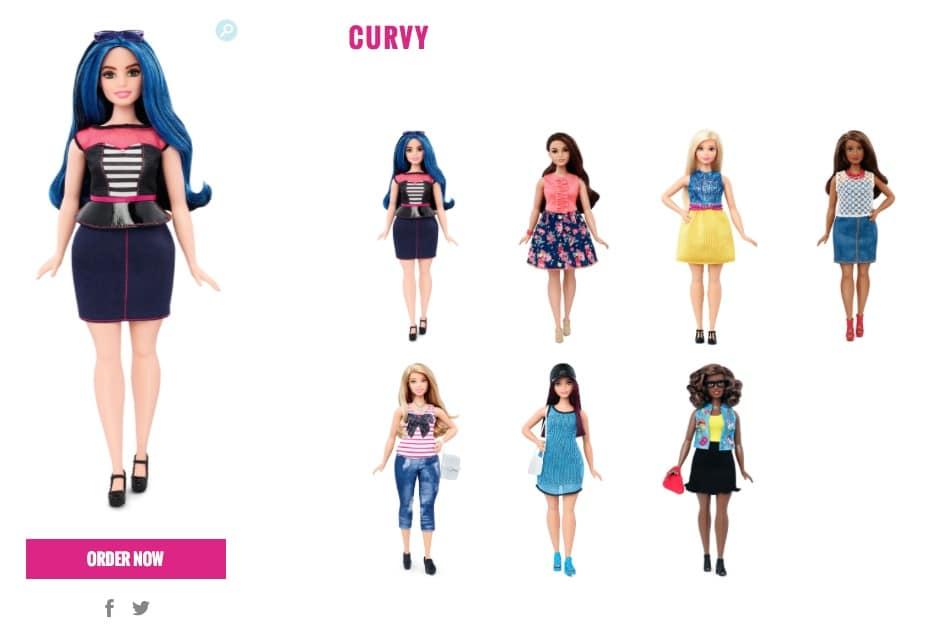 barbie curvy 2016