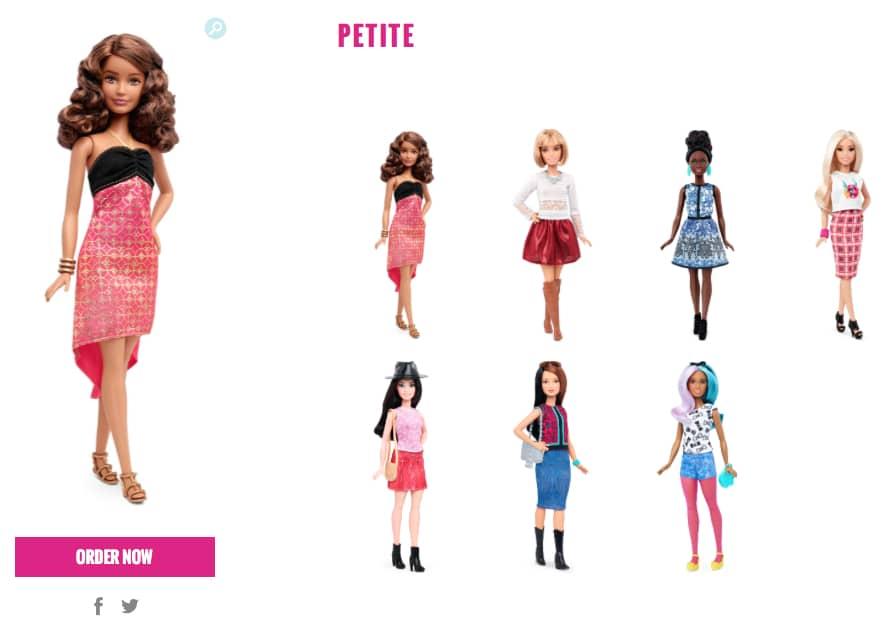 barbie petite 2016