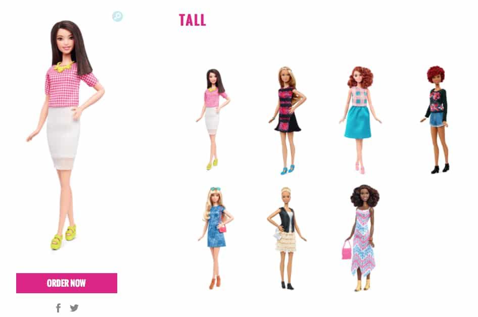 barbie tall 2016