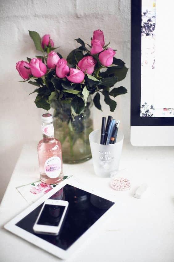 Arredare lo studio: idee se ti piace il rosa