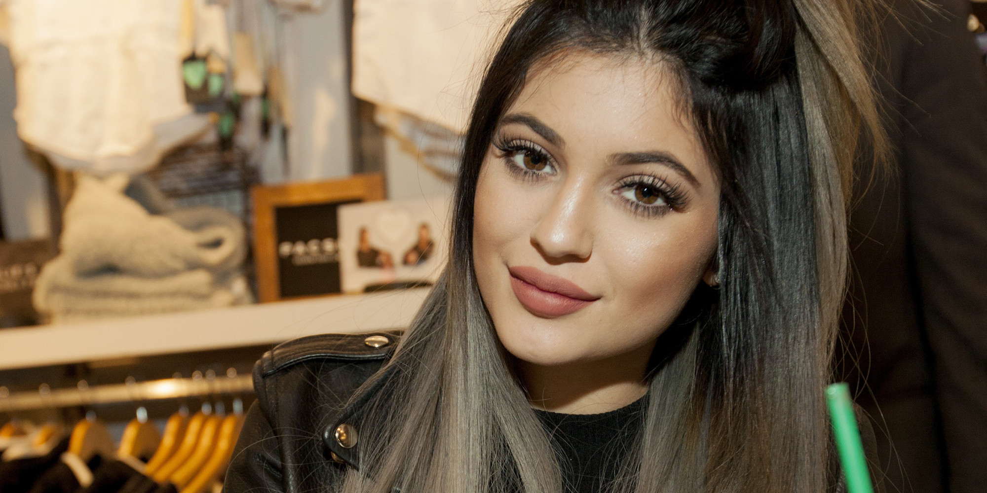 Kylie Jenner at the launch of the Kendall and Kylie Holiday Collection at PacSun in Woodfield Mall on Saturday, Nov. 8, 2014, in Schaumburg, Ill. (Photo by Barry Brecheisen/Invision for Invision for PacSun/AP Images)