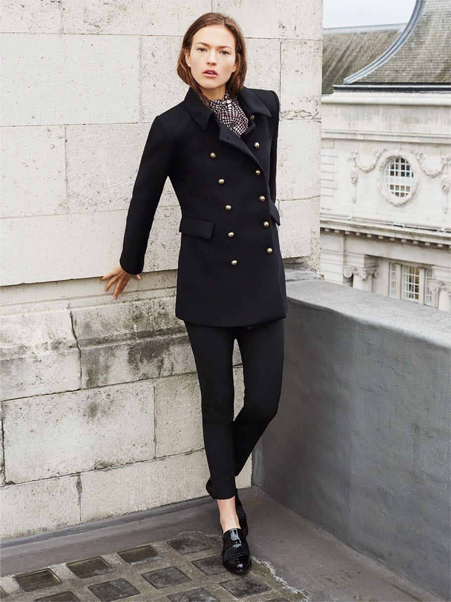 cappotto donna stile militare