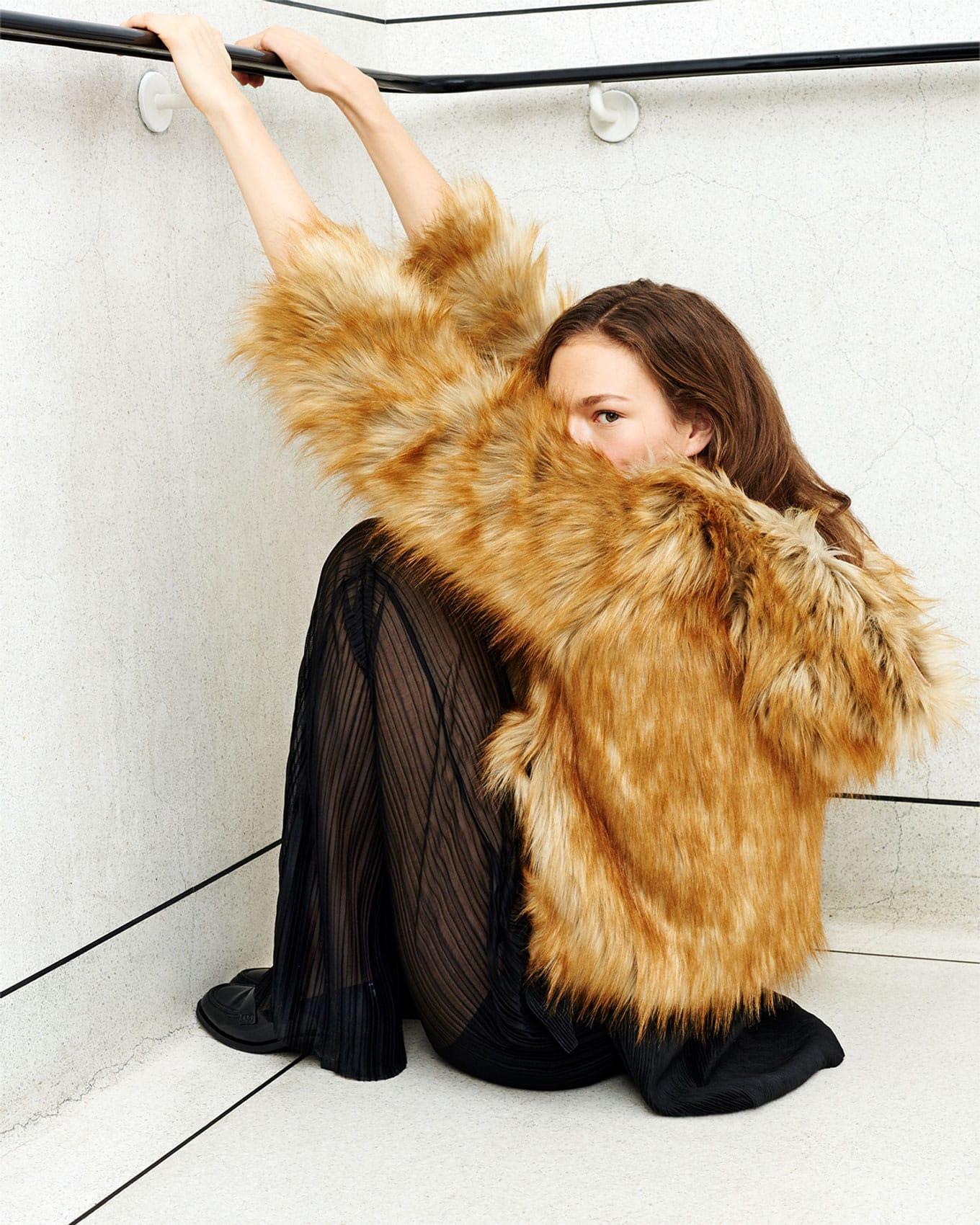 cappotto donna ecopelliccia