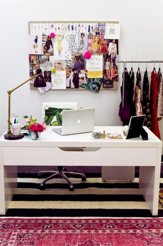 Arredare lo studio: idee se ti piace lo stile girly