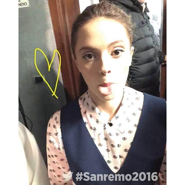 Francesca Michielin nel backstage...