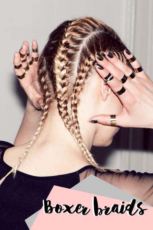 Boxer braids, le trecce doppie alla Kim Kardashian
