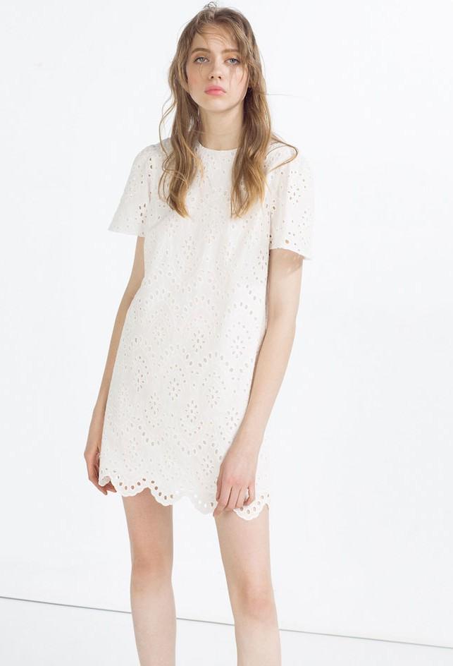 Vestito pizzo bianco zara – Abiti corti 0996b3f238b5