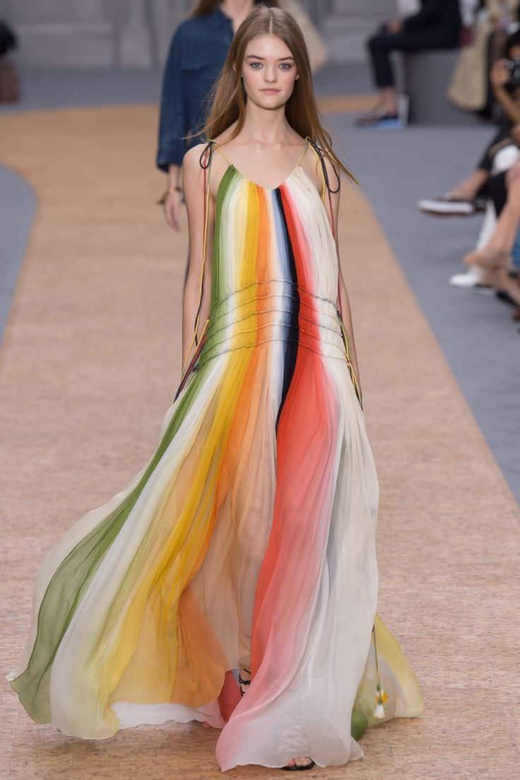Impulse vestiti a righe multicolore
