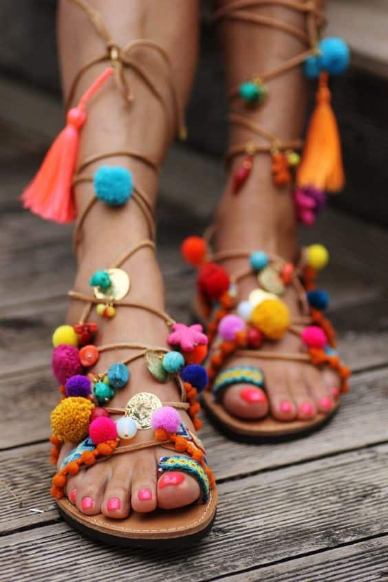 scarpe con ponpon